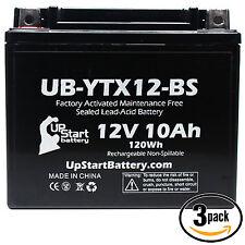 3x Battery for 2008 - 2011 Suzuki SV650, S 650 CC