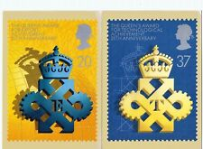 Royal Mail Stamp Postcards PHQ 125 The Queen's Awards 2 cards complete 1990