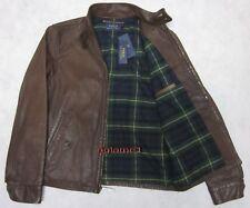 Last1 Polo Ralph Lauren Barracuda Flight Leather Jacket Bomber Coat S