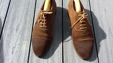 Peal and Co tobacco suede brogues Crockett Jones quality 9