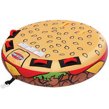 Sportsstuff Cheeseburger 2 Rider Inflatable Tube Water Boat Towable - 53-3050