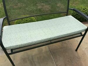 "Green leaf  2 seater garden bench pad/cushion 45"" , removable cover and Ties"