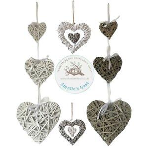 Shabby Wicker Heart Wreath Home Wall Hanging Wedding Birthday Xmas Party Decor L