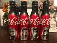 Coca Cola aluminium bottles France Star Wars 4 pcs empty limited edition