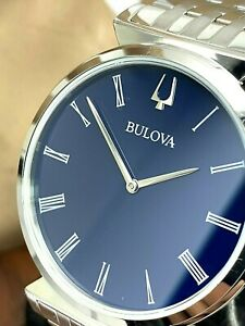 Bulova Men's Watch 96A233 Regatta Quartz Blue Dial Silver Tone Stainless Steel
