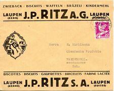 ENVELOPPE PUBLICITAIRE  BISCUITS // RITZ LAUPEN SUISSE / WAEDENSWILL 1932