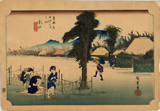 UW»Estampe japonaise Hiroshige Tokaido 59 B07