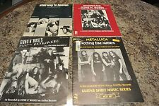 hard rock lot of 4  Led Zepplin Stairway to Heaven 1972   guns n ro ,metallica