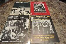 hard rock lot of 4  Led Zepplin Stairway to Heaven 1972   guns n ro ,metallica