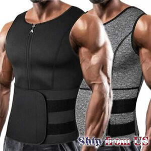Men Sauna Sweat Vest Tank Top Body Shaper Waist Trainer Fat Burner Man Shapewear
