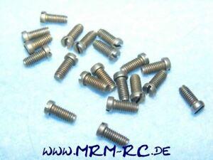 DIN 85 M3 x 6 Flachkopfschraube kleiner Kopf Schlitzschraube 10er Pack