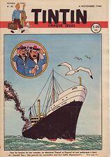 TINTIN 1948 n° 45 couverture de HERGE TBE