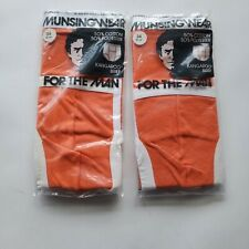 Munsingwear 2 Mens 34 Orange Kangaroo Briefs Vintage Underwear Usa Made 70s 80s