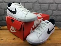 NIKE TENNIS CLASSIC TRAINERS WHITE NAVY CHILDRENS LADIES VARIOUS SIZES C