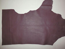 """Dark Maroon Cowhide Upholstery Leather Scraps 10""""x17"""" avg 0.9mm thick #9098"""