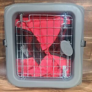 Dog Crate Kennel Portable Soft Collapsible Folding Pet Travel Pop Up Cage Red
