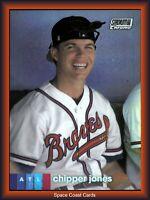 2020 Topps Stadium Club Braves Chipper Jones CHROME REFRACTOR Card