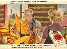 1943 vintage WW2  ad for Lucky Strike Cigarettes  -071612