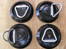 SET OF 4 UNIVERSAL TIE DOWN LASHING RING, VAN,HORSE BOX, IFOR WILLIAMS TRAILER,