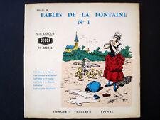Vintage Imagerie Pellerin d'Epinal Fables de la Fontaine SET with records InvUU