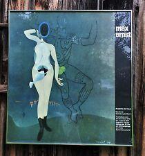 """Max Ernst """"Adam and Eve"""".Original framed exhibition poster,vintage Berlin,1970."""