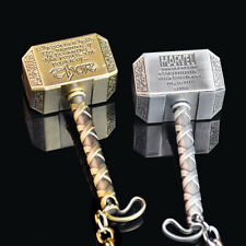 1-Piece Car Auto The Avengers Thor Thor's Hammer Keyring Keychain Metal.