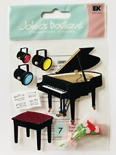 NIP PIANO RECITAL JOLEE'S BOUTIQUE DIMENSIONAL STICKERS MUSIC LIGHTS FLOWER