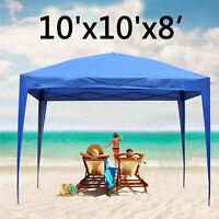10'X10'Pop Up Canopy Tent  Beach Gazebo Party Shade Foldable Patio Wedding Yard