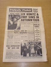 MELODY MAKER 1958 JULY 5 ZOOT SIMS LEE KONITZ FRANKIE VAUGHAN HARRY BELAFONTE +