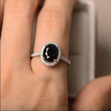 Lab Created Black Sapphire Ring