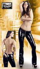 Lack Hose mit Zip schwarz Black Level sexy gogo lackhose vinyl S M XL