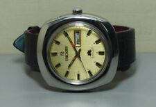Vintage Ricoh Automatic Day Date Mens Stainless Steel Wrist Watch Old Used r253