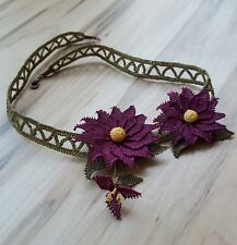 Embroidered Necklace New Handmade Turkish