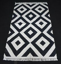 Hand Woven Home Decorative Cotton Modern Rug Reversible 3x5 Feet