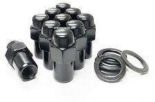 10X LUG NUTS 1/2 BLACK MAG WHEEL NUT .75 SHANK CRAGAR 1/2X20 1/2-20 FORD WASHERS