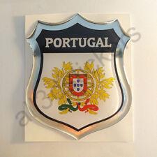 Autocollant Portugal Emblème Armoiries Blason Adhésif Portugal 3D Résine Voiture