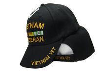 Vietnam Veteran VET Black and Yellow Baseball Hat Ball Cap (RA)