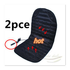 2 Pcs  Car Heated Seat Cover Cushion PAD Cushion + Thermostat Soothing back