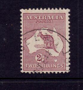 Kangaroo Used CofA Wmk 2/- Maroon - Type A SG 134