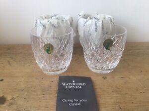 Set of 4 Waterford Crystal 9oz Tumblers