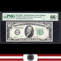 1934-C $5 CHICAGO FRN PMG 66 EPQ  Fr 2008-G   G10967150D