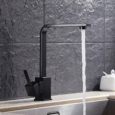 Modern Square Kitchen Sink Taps Single Lever Basin Mixer Tap Mono Brass Faucet