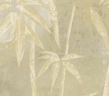 Contemporary Bamboo Gold Stalks On Beige Wallpaper ST30408