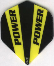 Black and Yellow POWER MAX Dart Flights: 150 Microns Thick: 3 per set