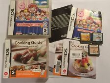 3x NINTENDO DS NDS DSi DSL XL GAMES COOKING MAMA 1 I + 2 II & COOKING GUIDE