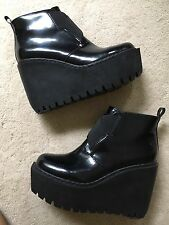 Opening Ceremony Black Booties Size 38 Platform Wedge