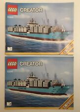 LEGO Creator Maesrk Line Triple-E 10241 Instruction Manual 1 & 2 Set Lot