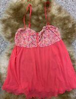 Tezenis coral mesh Camisole Top sleepwear nightwear size L unpadded wireless