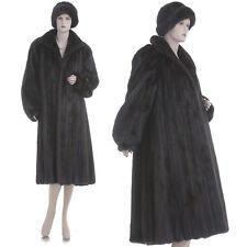 LKNW! M-L! Highest Grade Mahogany Female Mink Fur A-Line Coat w/$350 Mink Hat