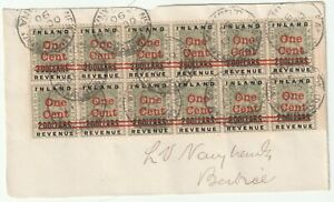 1890 BRITISH GUIANA INLAND REVENUE TWO DOLLARS RED OVERPRINTED 1 CENT FRONT 99p!